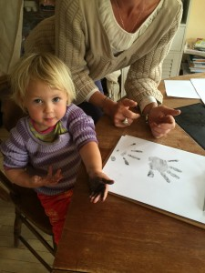 Sawyer Rose showing inked hand 6